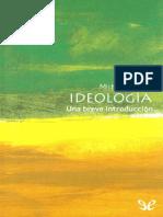 Freeden, Michael (2003) - Ideología. Una Brevísima Introducción