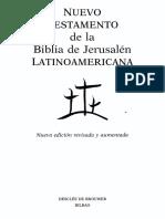 Biblia - Nuevo Testamento de La Biblia de Jerusalen Latinoamericana