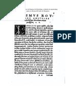 Carta-prefacio de Erasmo a su edición del texro de Euquerio