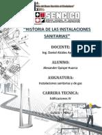 CARATULA Historia de Las Instalcsanitarias