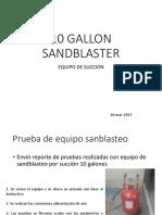PRUEBAS DE SANDBLASTEO