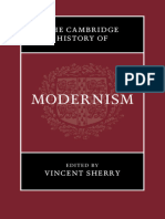 The Cambridge History of Modernism Sherry Vincent