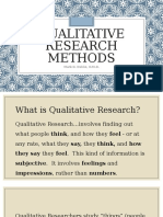 Qualitative Research Method