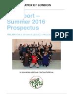 FreeSport Summer 2016 Prospectus