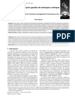 Quadro conceitual para gestão de estoques
