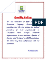 Authentic Quality statement