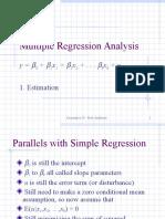 Multiple regression analysis (MLR)