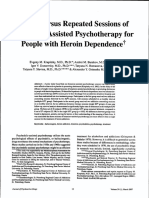 Single Versus Repeated Sessions of Ketamine-Assisted Psychotherapy for People With Heroin Dependence.