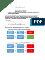 assignment description process description