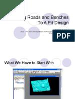 04 Agregando Caminos y Bancos Al Diseño de Pit