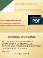Modelado Con Ecuaciones Diferenciales de 1er Orden