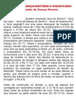 A Arca Da Aliança-histaria e Significado-josivaldo de França Pereira