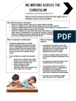 teaching writing across the curriculum revised handout
