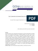 Usos e Aplicações Da Grounded Theory Em Administração