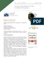 Teorias e Modelos de Comunicação_ Modelos de Comunicação
