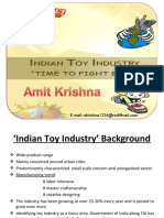 Indian Toy Industry,Amit Krishna