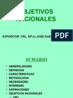 Objetivos Nacionales 2001