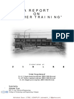 Training Report on 220 to 132KV Substation   Electrical Substation