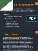 Frecuencia de Aborto en Adolescentes en El Hospital Victor Lazarte Echegaray de Septiembre a Noviembre Del 2014