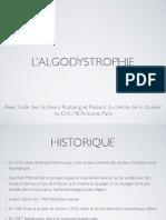 Algodystrophie Expertise