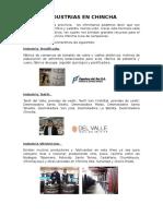 Industrias en Chincha