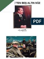 Atatürk'denAltınSözler