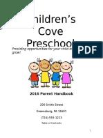 parent policy handbook topics