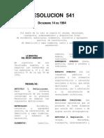 RESOL. 541 DE 1994 ESCOMBROS - CARGUE, TRANSPORTE Y DISPOSCI. FINAL.pdf