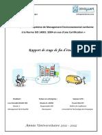 Rapport PFE Mise en place ISO 14001.pdf