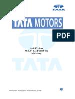 Tata Motors Case Study- AMIT KRISHNA,PATNA