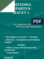 DISTOSIA Dr Marzuki