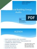 Ashrae energy Audits