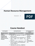 HRM Session 1