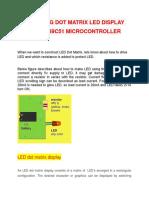 Interfacing Dot Matrix Led Display With an At89c51 Microcontroller