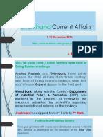 Jharkhand Current Affairs November 2016 Part 1