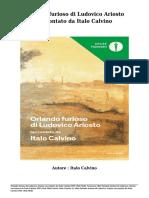 Scaricare Libri Orlando Furioso Di Ludovico Ariosto Raccontato Da Italo Calvino Da Italo Calvino PDF EPub Mobi