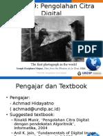 Kuliah 1 PCD Pendahuluan