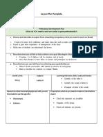 lesson plan letter h