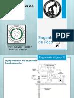 Slides de equipamento de Engenharia de Poço