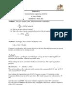 CHME 314 Homework 2