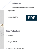 CHME 314 Lecture 11 Isothermal Reactor Design 2