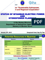 STATUS OF MYANMAR ELECTRIC POWER  AND  HYDROPOWER PLANNING