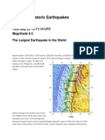 Historic Earthquakes