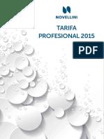 Tarifa Profesional 2015 No Vellini