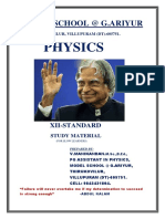 Xii-standard Physics Study Material (for Slow Learners) by Mani