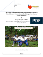 The Role of Traditional Institutions and Beliefs in Natural Resource Conservation and Its challenges
