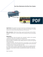 High Quality Electric Folding Bus Door Mechanism and Bus Door System From China