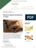 Barritas Crujientes de Manzana y Canela _ Recetas Veganas Vegetarianas