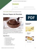 Mousse Vegano de Chocolate _ Recetas Veganas Vegetarianas