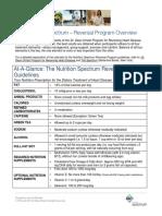Participant Nutrition Overview